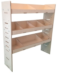 Van Plywood Shelving and Van Plywood Racking Storage System 1087mm(H) x 1000mm(W) x 269mm(D) - BVR1010263