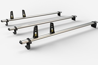 3 Bar Heavy Duty Aluminium Roof Bars For The Swb Ford Transit Custom 2012 Onwards L1H1 Van VG304-3